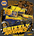 Grizzly Nationals T-shirt sizes Adult S-XL