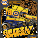 Grizzly Nationals T-shirt sizes Adult S, M